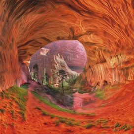Double Arch Alcove Grand Scale Dreamscape Detail