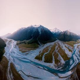 Hopkins valley, New Zealand, Panorama