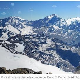 Panorama Cumbre El Plomo - copy
