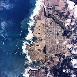 Satellite image of Fort Bragg, CA