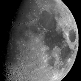 Moon mosaic with feature names