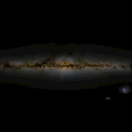 Sky image assembled from GAIA DR2 data